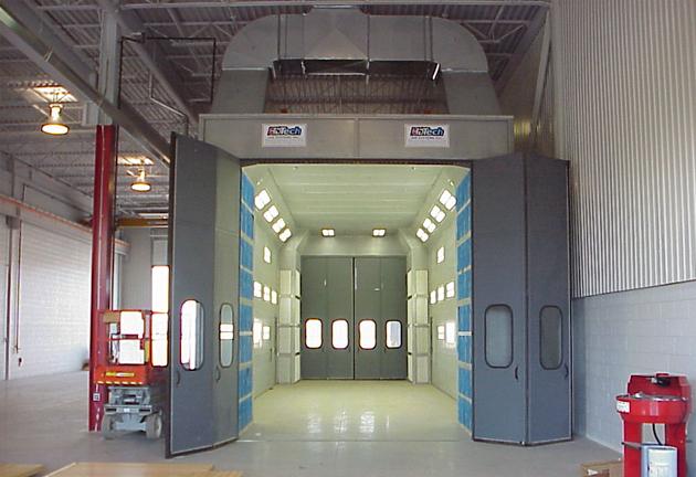 Challenger truck spray booth